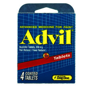 Advil  Pain Reliever  4 count