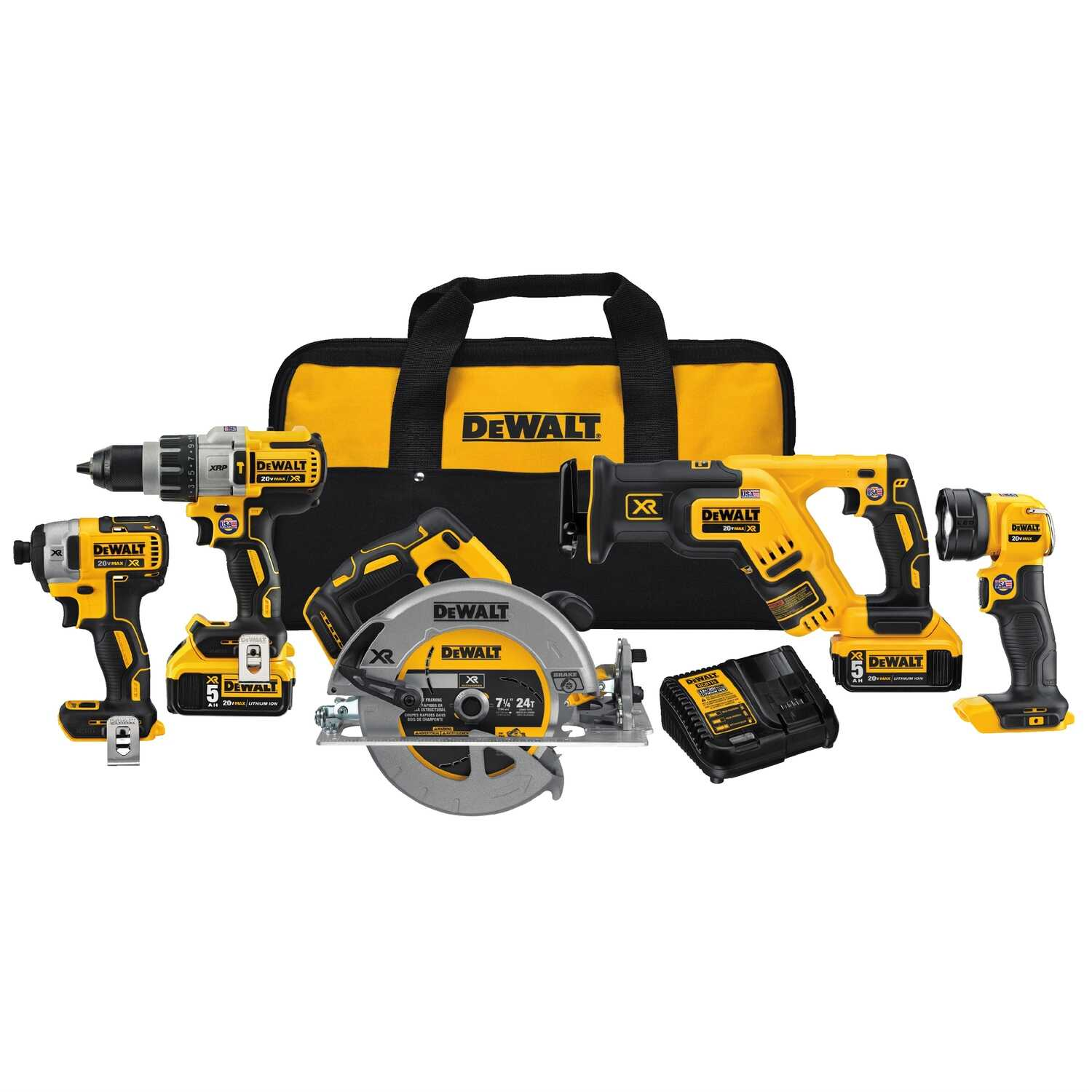 DeWalt  XR  Cordless  Brushless 5 tools Combo Kit