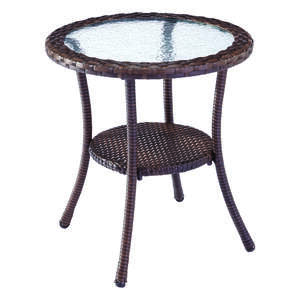 Living Accents  Glass Top  Brown  Vera Cruz  Bistro Table