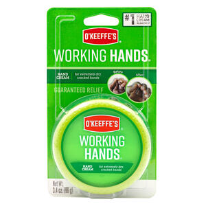 O'Keeffe's  Working Hands  No Scent Hand Repair Cream  3.4 oz. 1 pk