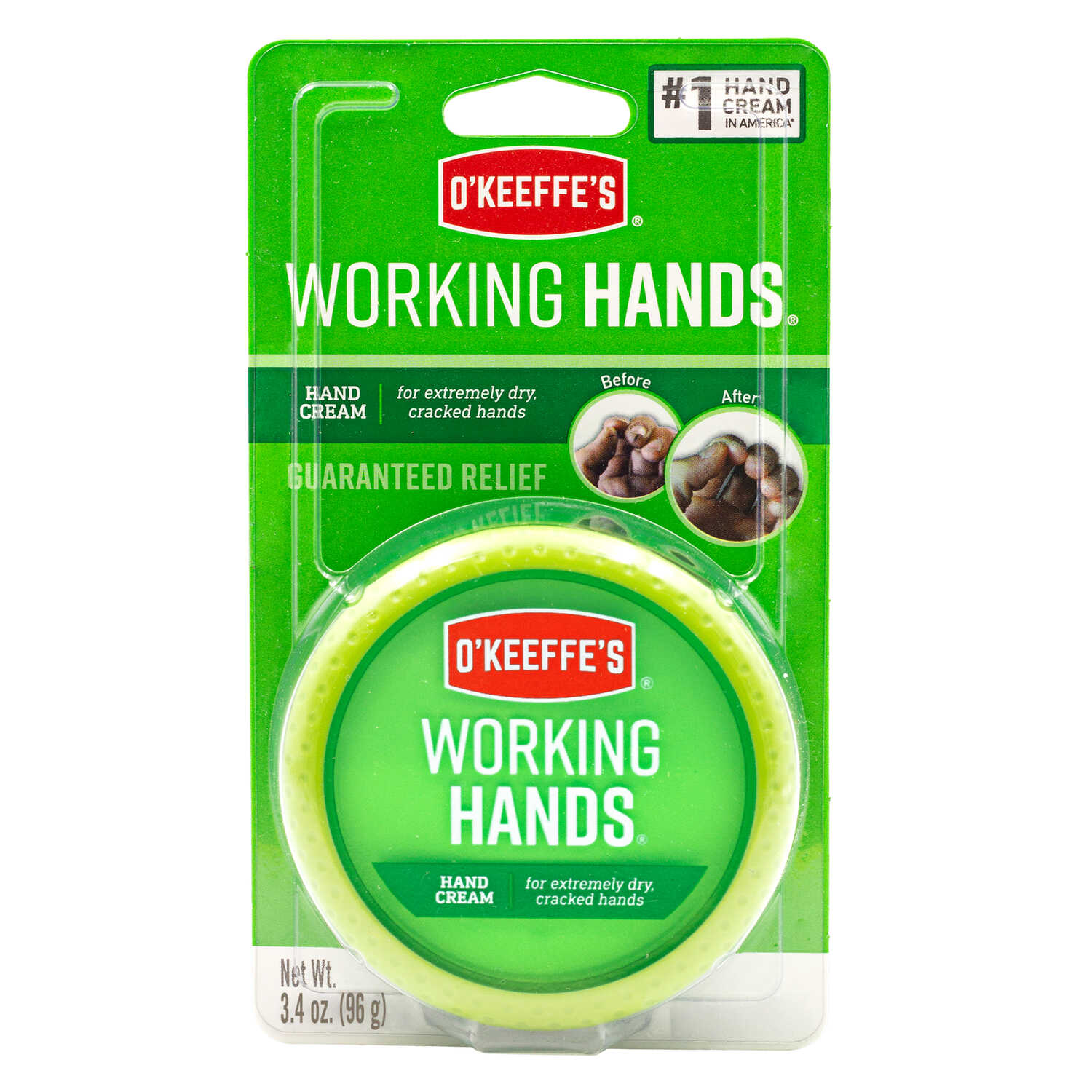 O'Keeffe's  Working Hands  No Scent Hand Repair Cream  3.4 oz. 6 pk