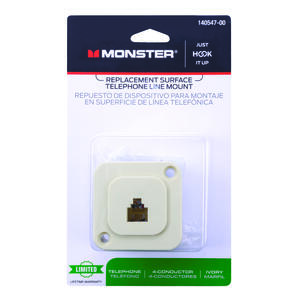 Monster Cable  1-Jack  Phone Jack  Surface-Mount