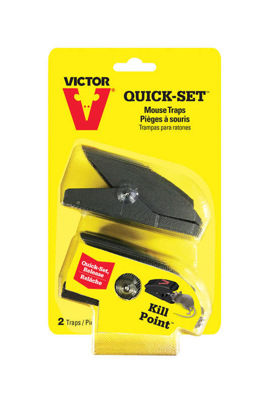 Victor  Quick-Set  Snap Trap  For Mice 2 pk