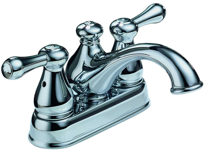 Delta  Leland  Two Handle  Lavatory Faucet  4 in. Chrome