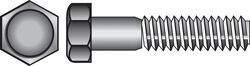 Hillman  1/2 in. Dia. x 8 in. L Zinc Plated  Steel  Hex Bolt  25 pk