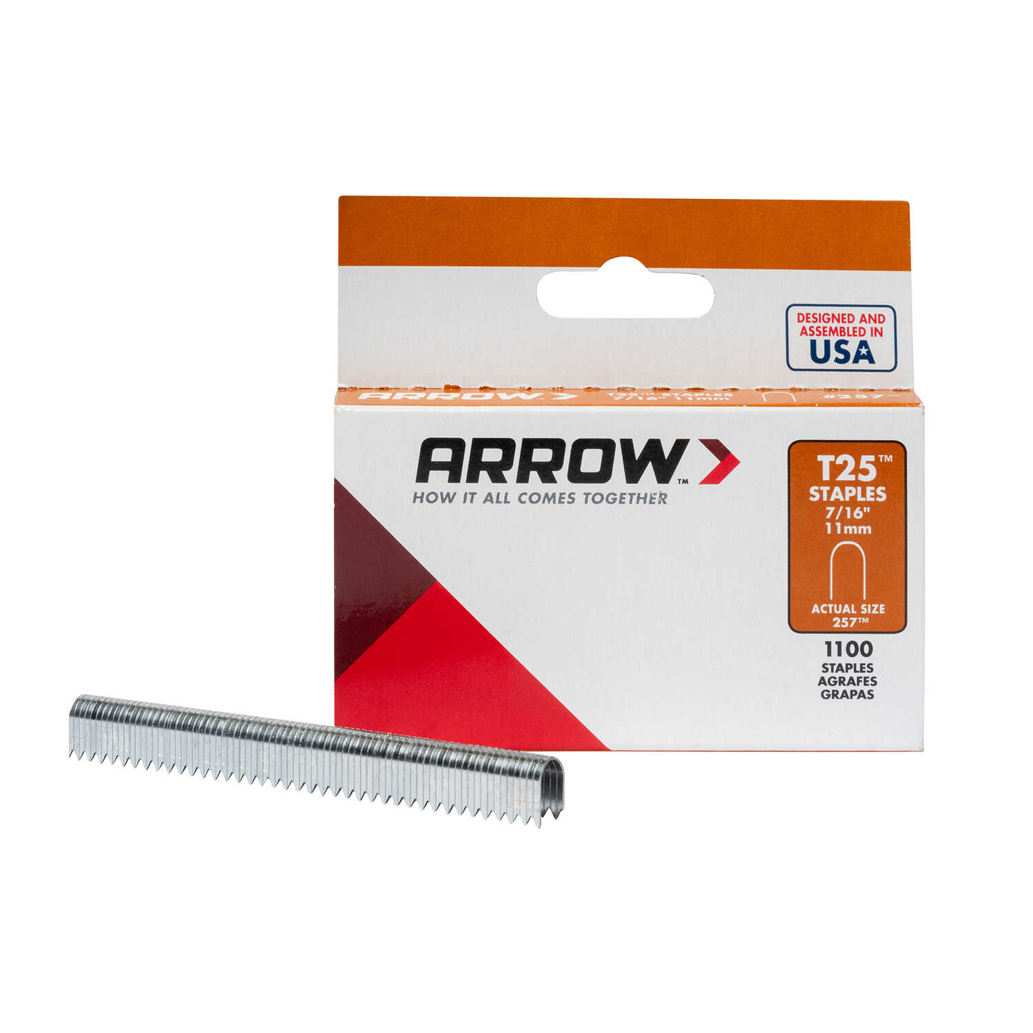 Arrow Fastener  7/16 in. L x 1/4 in. W Galvanized Steel  Round Crown  Wire Staples  18 Ga. 1000 pk