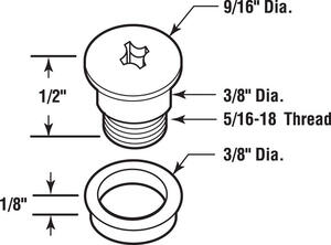 Prime-Line  Zinc  Window Bolt  0.5 in. H x 9/16 in. W x 1/2 in. L 1 pk