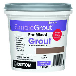 Custom Building Products  SimpleGrout  Indoor  Earth  Grout  1 qt.