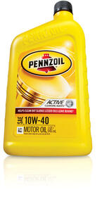 PENNZOIL  10W-40  4 Cycle Engine  Multi Viscosity  Motor Oil  1 qt.