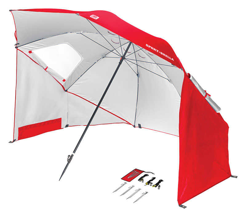 Sport-Brella  Shade  8 ft. Tiltable Red  Sport Umbrella