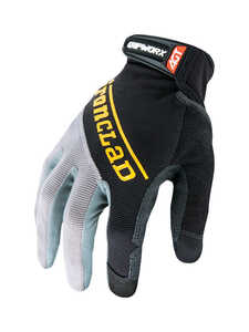 Ironclad  Men's  Silicone-Fused  Work  Gloves  Black  Large