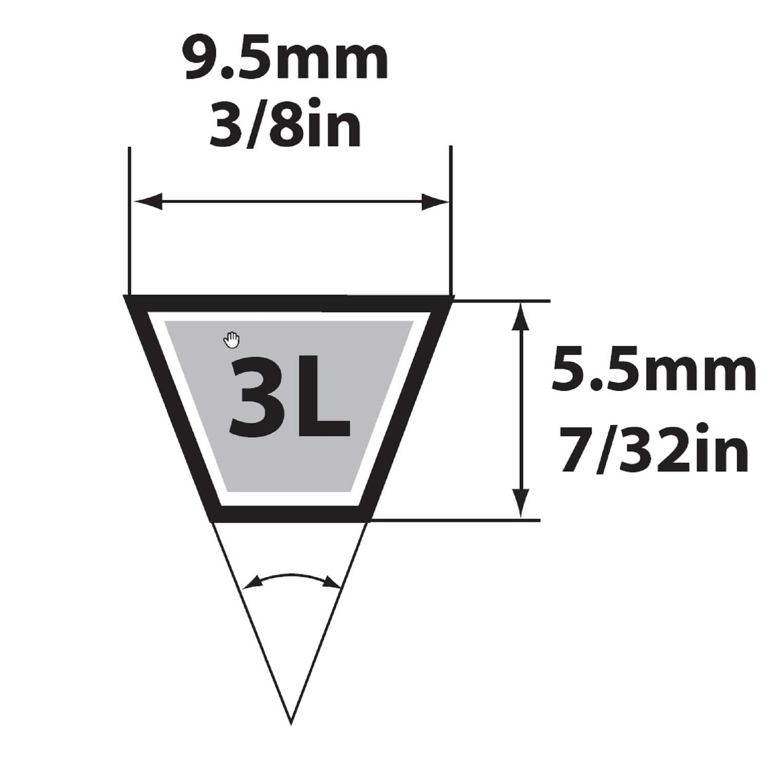 Mitsuboshi  General Utility V-Belt  0.38 in. W x 34 in. L