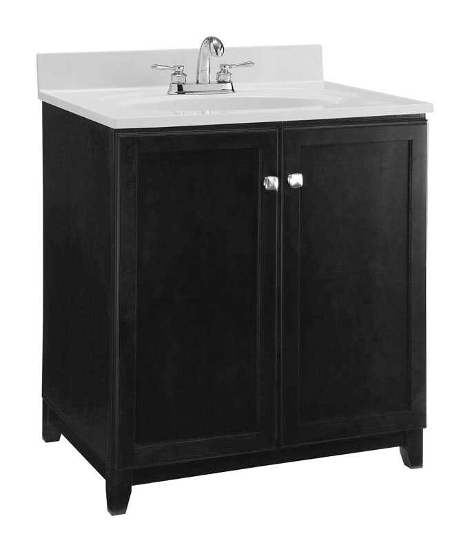 Design House  Single  Dark  Base Cabinet  33 in. H x 30 in. W x 21 in. D