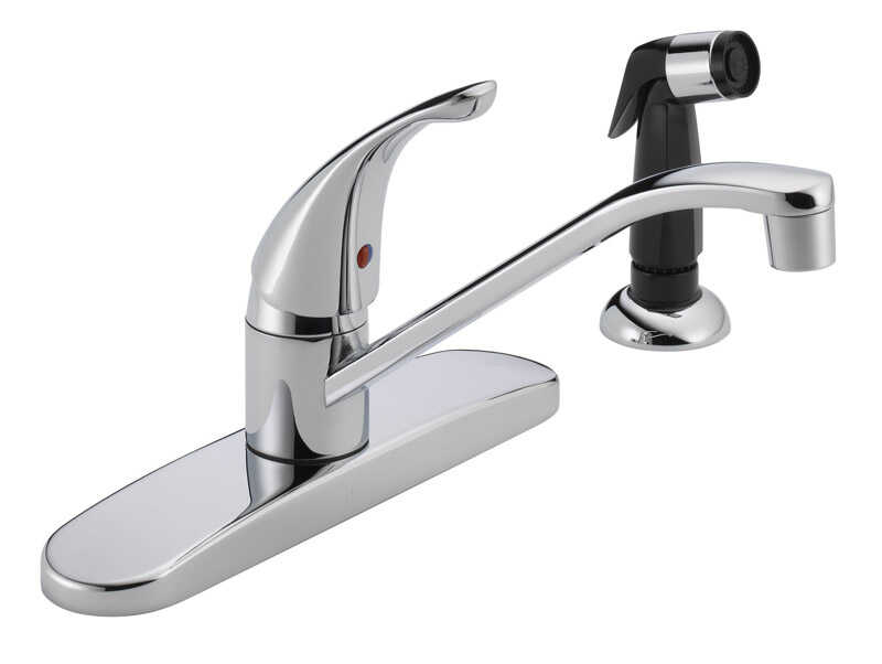 Peerless Core One Handle Chrome Kitchen Faucet Side