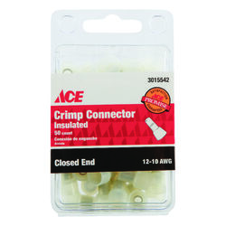 Ace Closed End Connector Clear 50 pk