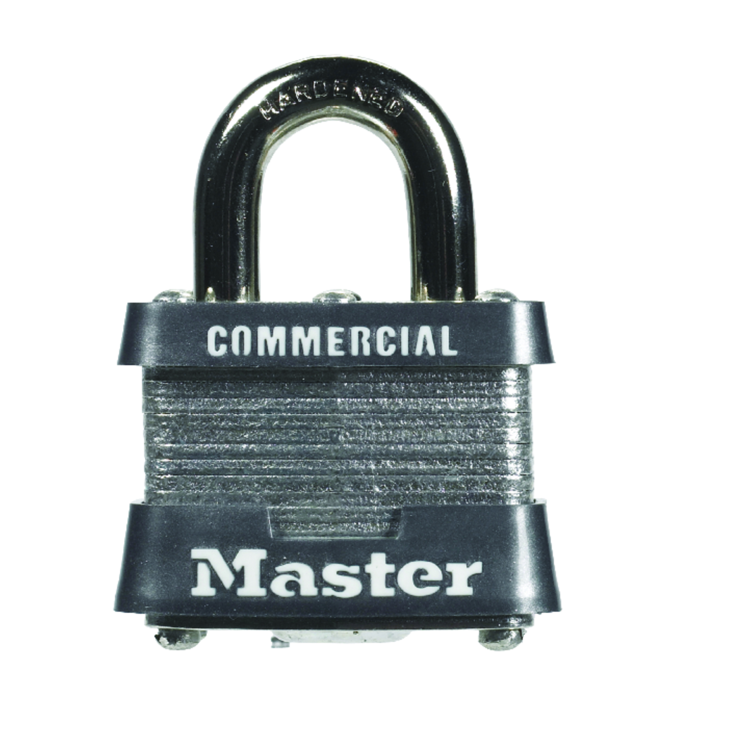 Master Lock  1-5/16 in. H x 1-5/8 in. W 4-Pin Cylinder  Laminated Steel  Padlock  1 pk Keyed Alike
