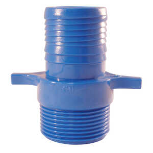 Blue Twisters  1 in. Insert   x 1 in. Dia. MPT  Polypropylene  Male Adapter