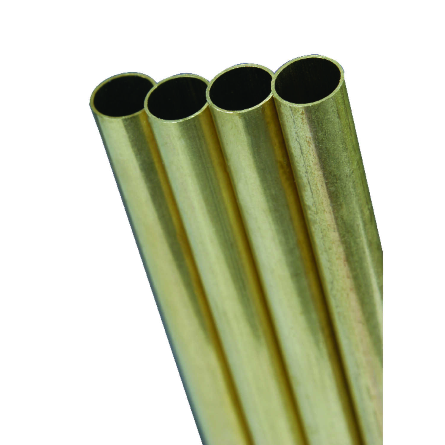 K&S  11/32 in. Dia. x 12 in. L Round  Brass Tube  1