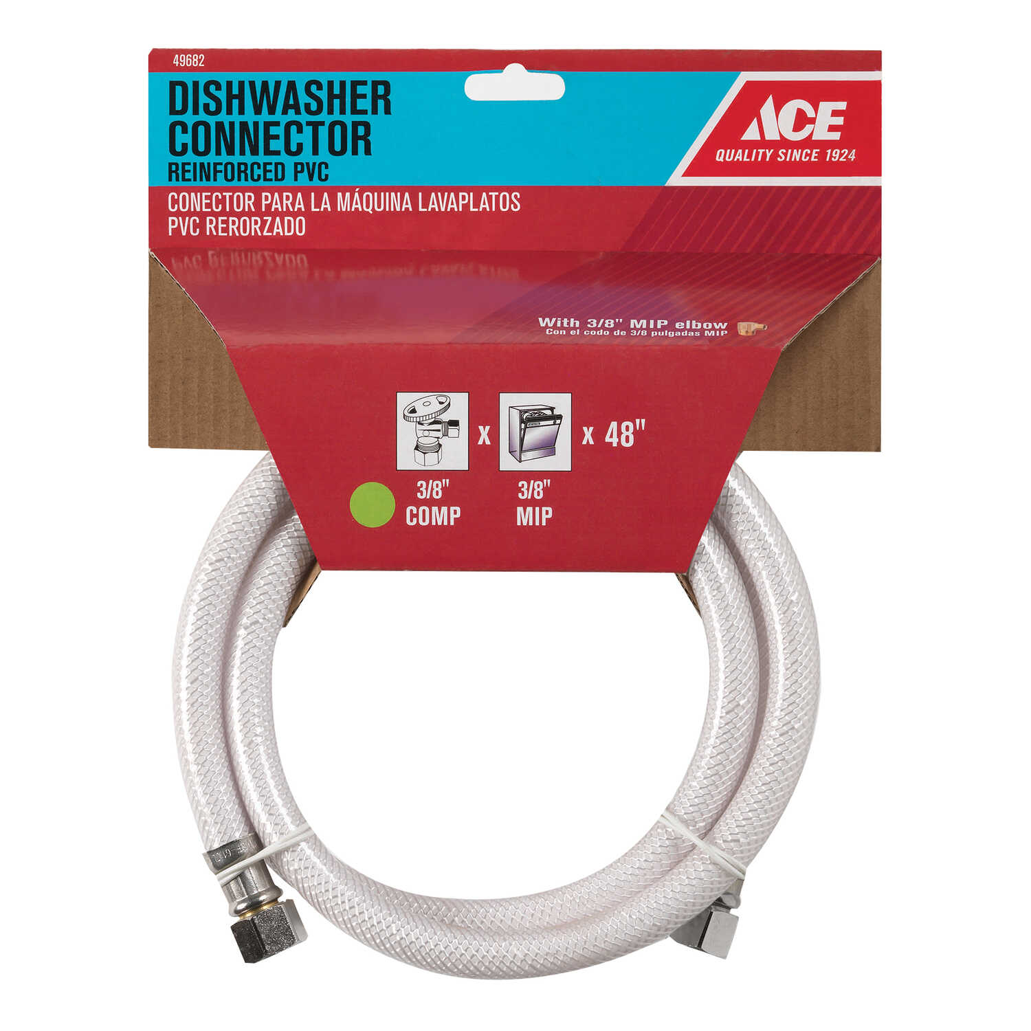 Ace Hardware  3/4 in. Compression   x 3/8 in. Dia. MIP  48 in. PVC  Supply Line
