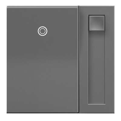 Legrand  Adorne  Gray  450 watts Paddle  Dimmer Switch  1 pk