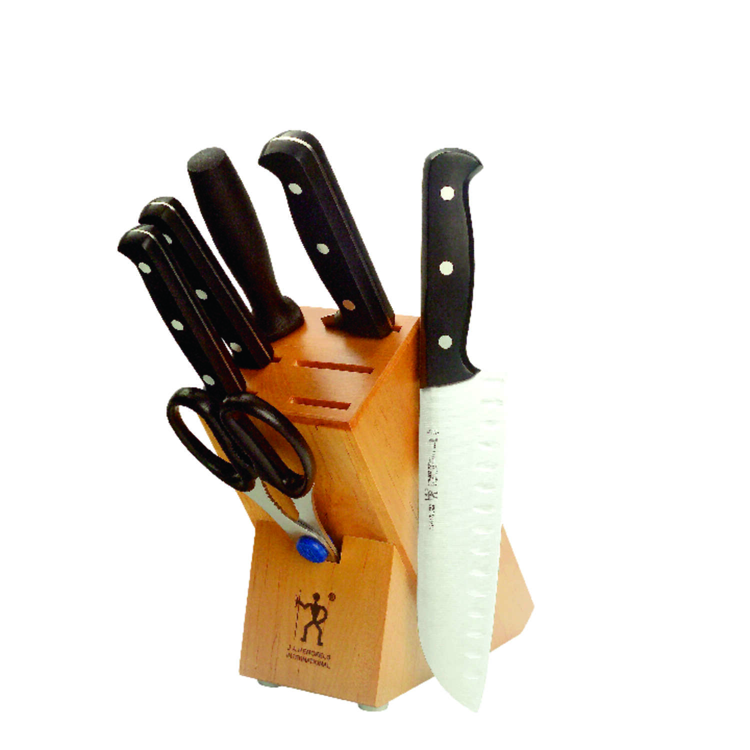 Zwilling Henckels  Stainless Steel  Wood Block Knife Set  7 pc.
