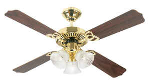 Westinghouse  Crusader  9.9  4 blade Indoor  Polished Brass  Ceiling Fan