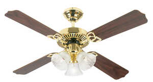 Westinghouse  Crusader  9.9  42 in. W Indoor  Polished Brass  Ceiling Fan  4