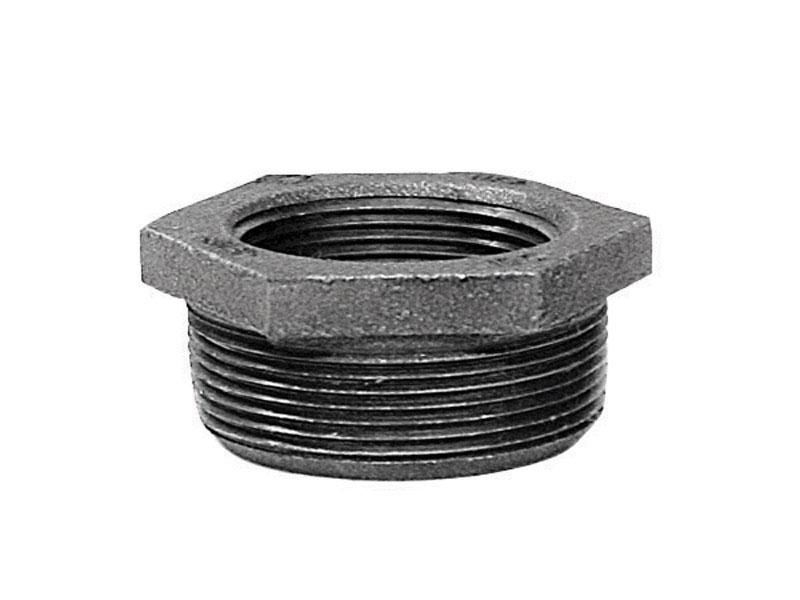 B & K  1-1/4 in. MPT   x 3/4 in. Dia. FPT  Galvanized  Malleable Iron  Hex Bushing