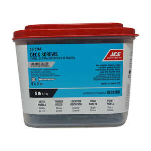 Ace  No. 8   x 3 in. L Phillips  Bugle  Ceramic Coated  Deck Screws  479 each 5 lb. Steel