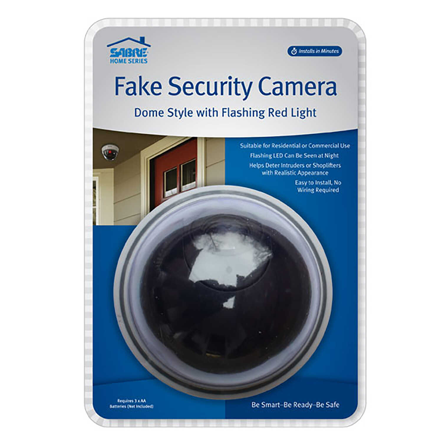Sabre  Black/ White  Plastic  Fake Security Camera