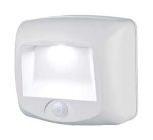 Mr. Beams  Plastic  Motion-Sensing  Stair Light  Battery Powered  White