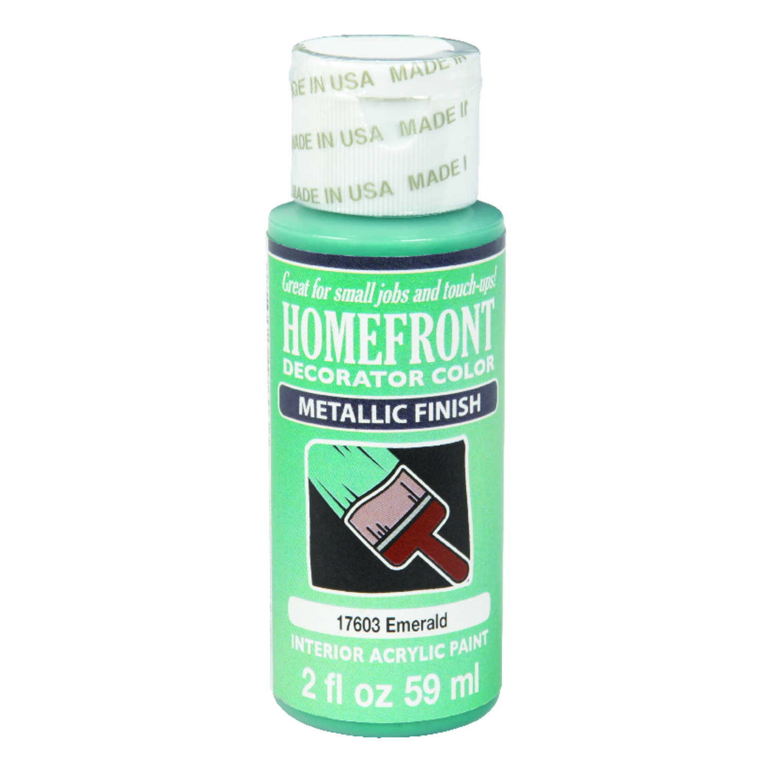 Homefront  Metallic  Emerald  Hobby Paint  2 oz.