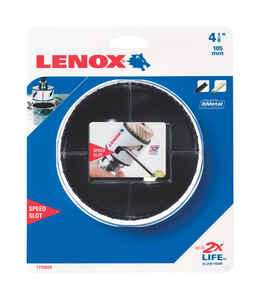 Lenox  Speed Slot  4-1/8 in. Dia. x 1.5 in. L Bi-Metal  Hole Saw  1/2 in. 1 pc.