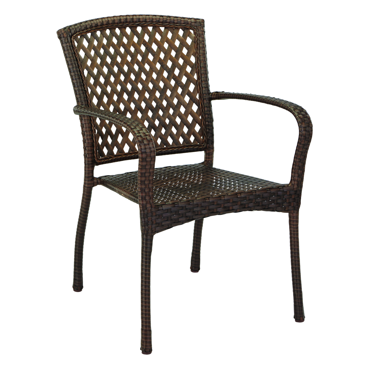 Living Accents  Brown  Steel  Bistro Chair