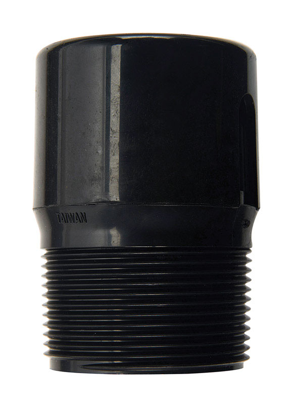 B & K LLC  1-1/2 in. MPT   x 1-1/2 in. Dia. MPT  ABS  Adapter
