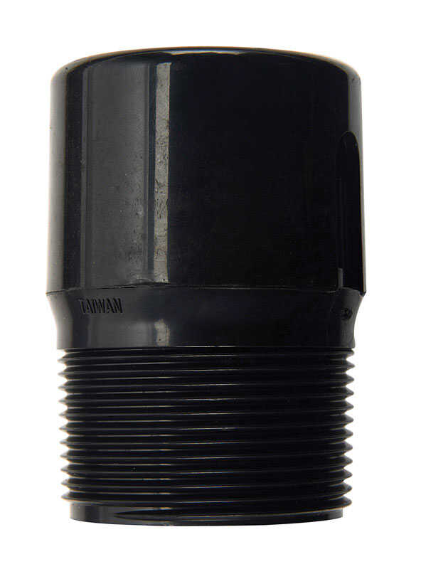 B & K LLC  1-1/2 in. MPT   ABS  Adapter