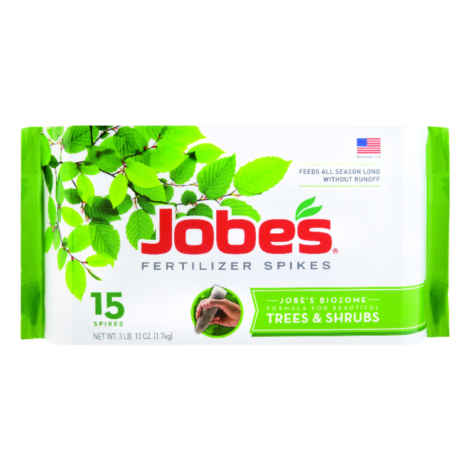 Jobe's  Trees & Shrubs  Spikes  16-4-4  Fertilizer Spikes  15 pk