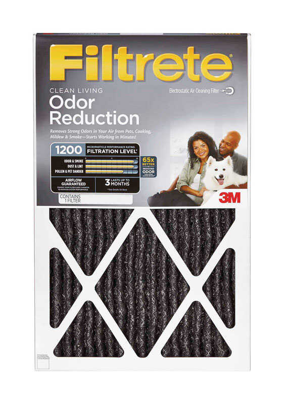 3M  Filtrete  20 in. W x 30 in. H x 1 in. D Carbon  Air Filter  Pleated