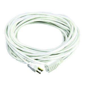 Ace  100 ft. L Indoor and Outdoor  White  16/3 SJTW  Extension Cord