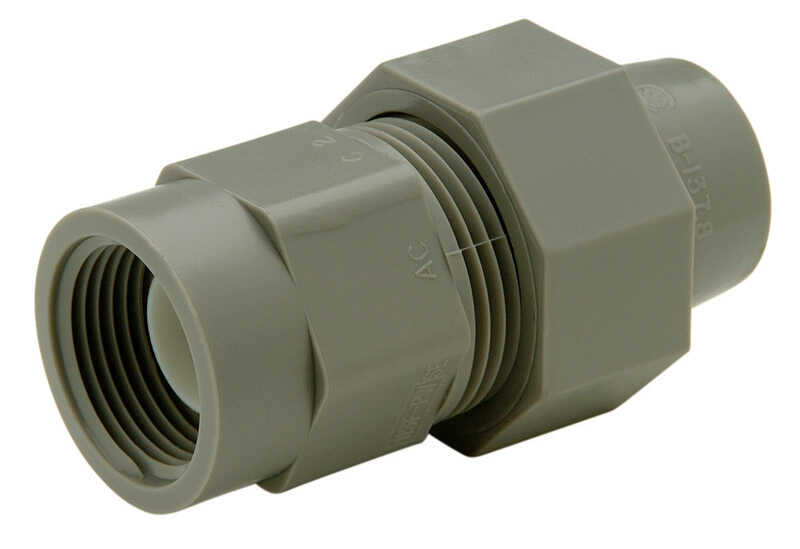 Zurn  Qest  1/2 in. Dia. x 3/4 in. Dia. FPT To FPT  Female Adapter  Polyethylene