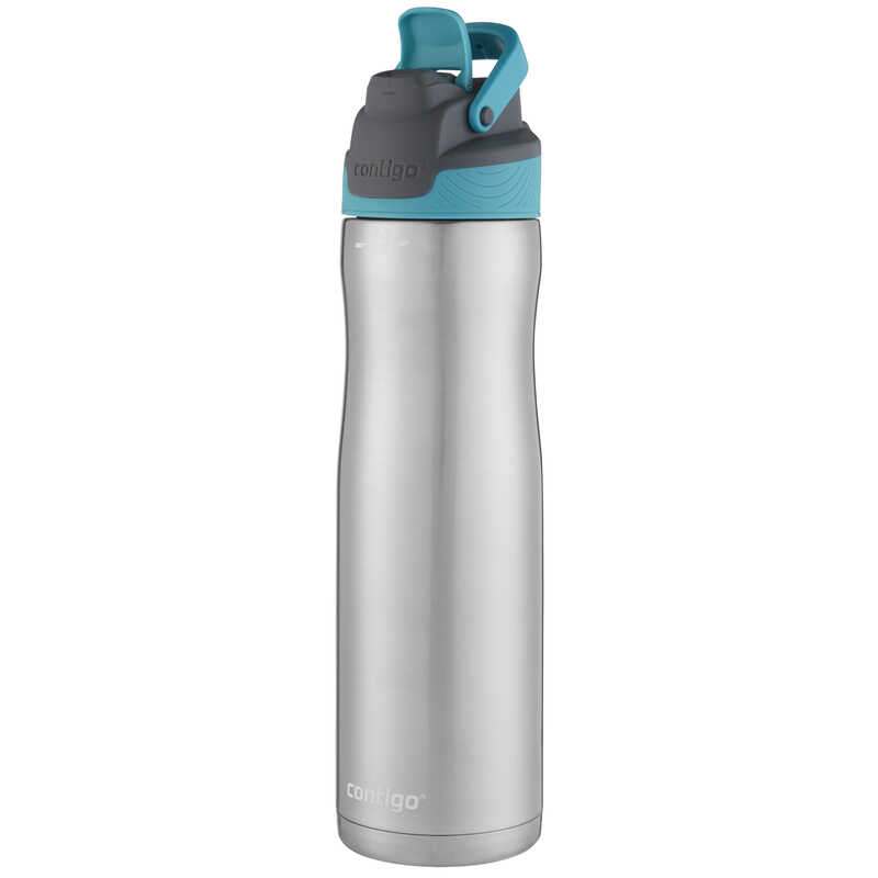 Contigo  AutoSeal Chill  Teal/Silver  Stainless Steel  Water Bottle  BPA Free 24 oz.