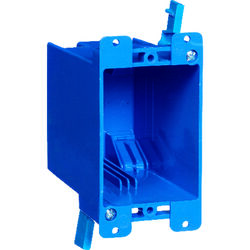 Carlon  4-1/8 in. Rectangle  PVC  1 gang Outlet Box  Blue
