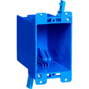 Carlon  4-1/8 in. Rectangle  Outlet Box  Blue  1 gang PVC