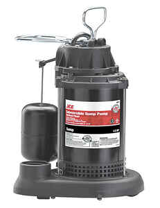 Ace  1/3 hp 3300 gph Plastic  Submersible Sump Pump