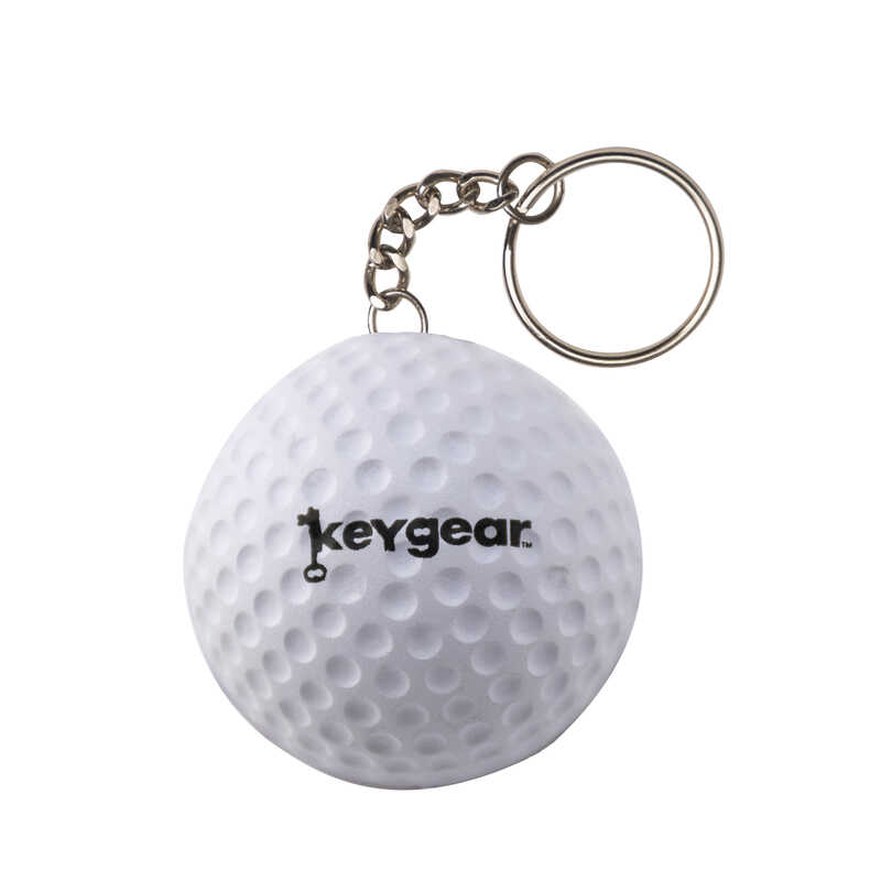 KeyGear  Plastic  White  Stress Golf Ball  Key Holder