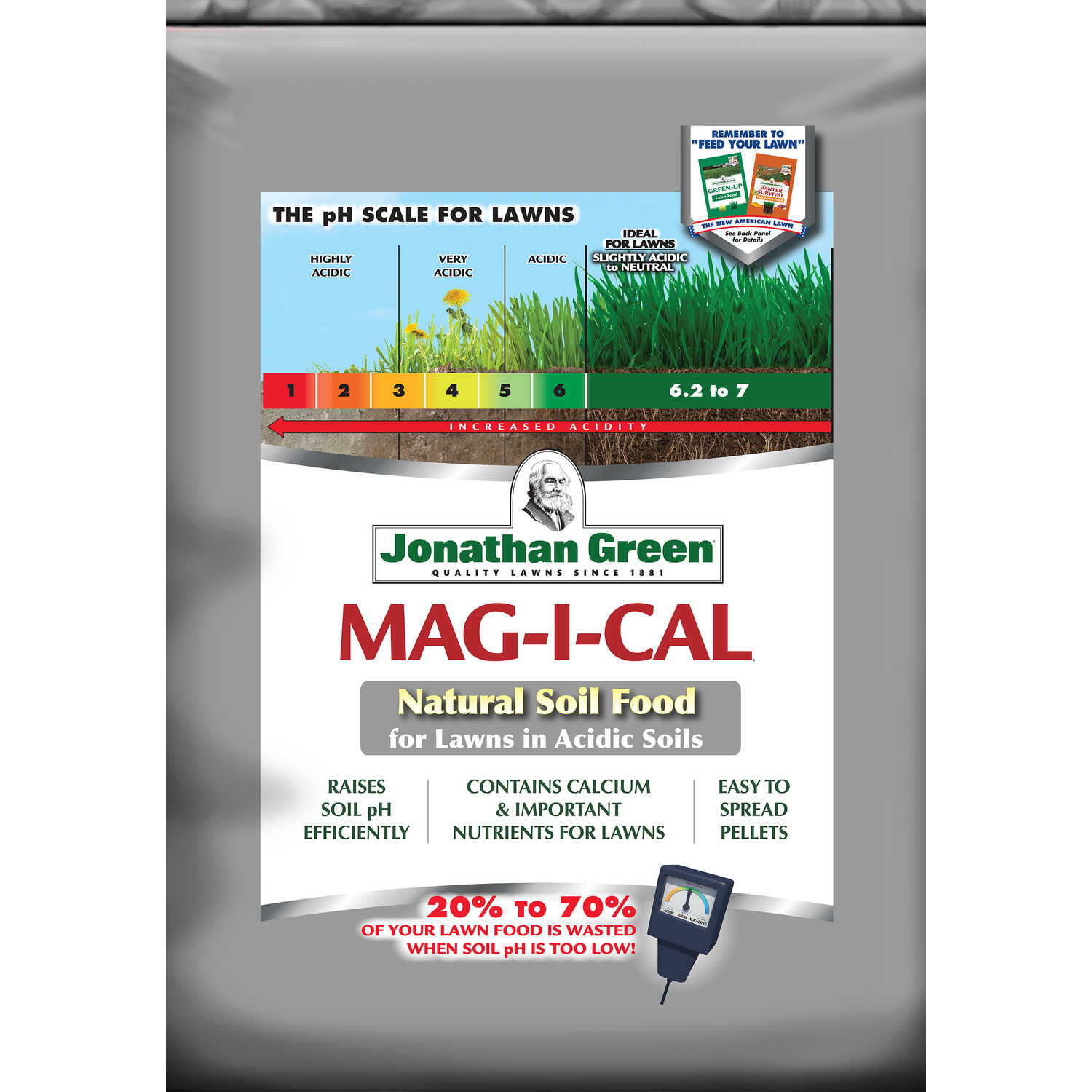 Jonathan Green  Mag-I-Cal  Organic Lawn and Garden Food  For All Grass Types 18 lb. 5000 sq. ft.