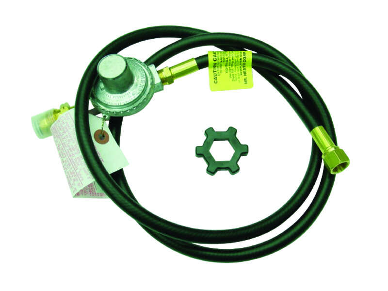Mr. Heater  3/8 in. Dia. x 5 ft. L Brass/Plastic  Restricted Flow Soft Nose P.O.L.  Hose Assembly An