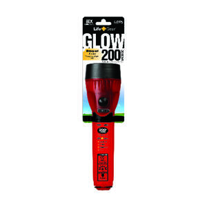 Life Gear  Glow  8 lumens Red  LED  Flashlight  AA Battery