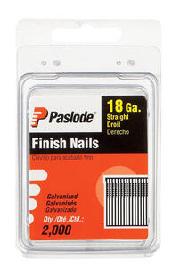 Paslode  1 in. 18 Ga. Straight Strip  Brad Nails  Screw Shank  2,000 pk