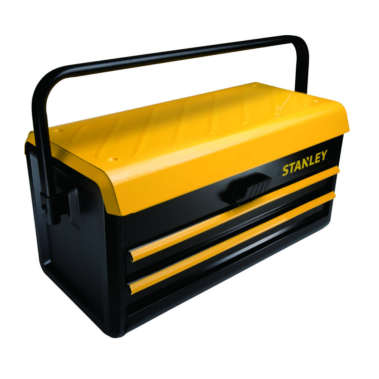 Stanley  11 in. W x 12 in. H 21 in. Tool Box  Black  Metal